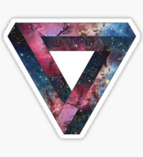 Penrose Nebula Triangle Sticker