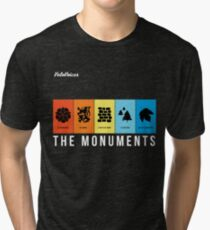 VeloVoices Monuments T-Shirt Tri-blend T-Shirt