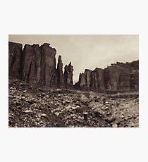 Moab Utah Hwy 128 Sandstone Cliffs Holga Photograph Photographic Print