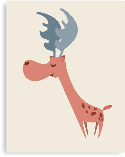 Pink Deer by volkandalyan