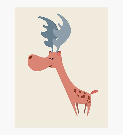 Pink Deer Photographic Print