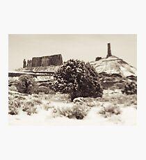 Holga Photo of Castle Valley, Utah In Winter  Photographic Print