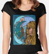 Turquoise Moon Women's Fitted Scoop T-Shirt