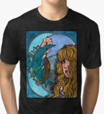 Turquoise Moon Tri-blend T-Shirt