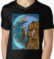 Turquoise Moon Men's V-Neck T-Shirt