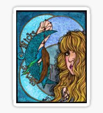Turquoise Moon Sticker