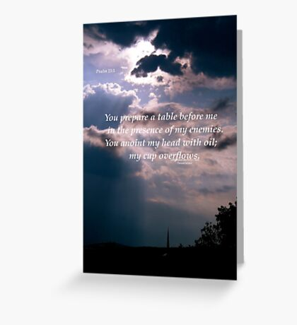 Psalms 23:5 Greeting Card