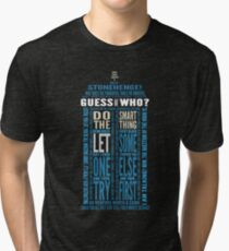 """Doctor Who TARDIS Quotes shirt - Eleventh Doctor """"Pandorica"""" Version Tri-blend T-Shirt"""