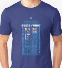 """Doctor Who TARDIS Quotes shirt - Eleventh Doctor """"Pandorica"""" Version Unisex T-Shirt"""