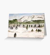 Pikes Peak Mountains Painting Greeting Card