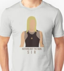 "Battlestar Galactica - Starbuck ""Nothing But The Rain, Sir"" Tee (No raindrops) Unisex T-Shirt"