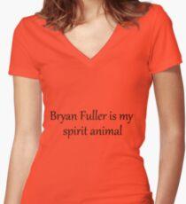 Bryan Fuller Is My Spirit Animal Women's Fitted V-Neck T-Shirt