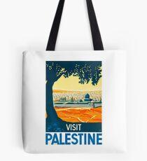 Besuchen Sie Palästina Vintage Travel Poster Tasche