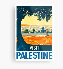 Besuchen Sie Palästina Vintage Travel Poster Metalldruck