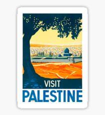 Visit Palestine Vintage Travel Poster Sticker