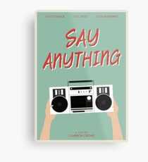 Say Anything film poster Metal Print