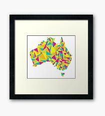 Abstract Australia Bright Earth Framed Print