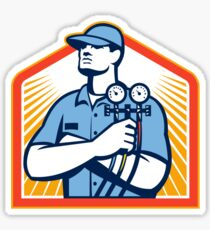 Refrigeration Air Conditioning Mechanic Front Sticker