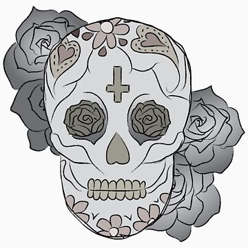 Sugar Skull (colored) by elainejoven