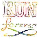 Run Forever - Lettering  by bangart