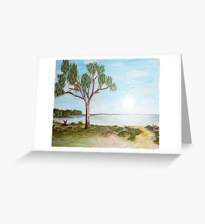 Lake Hindmarsh Greeting Card