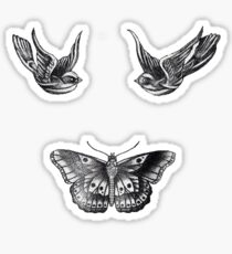 Harry Styles Swallows and Butterfly Tattoos Sticker