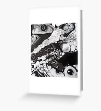 Reptiles Collage Greeting Card