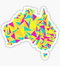 Abstract Australia Bright Earth Sticker