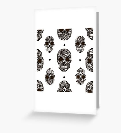 - Scull pattern - Greeting Card
