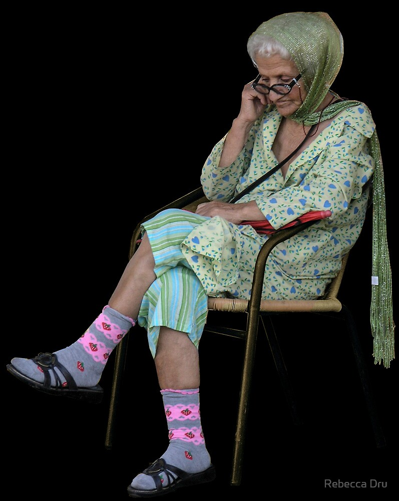 Old Lady in Chair, view 2 by Rebecca Dru