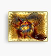 GOLDEN DANCING DRAGON Canvas Print