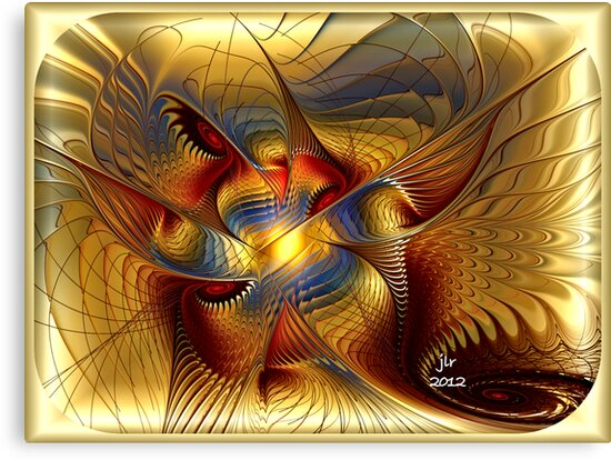 GOLDEN DANCING DRAGON by BuddhaKat