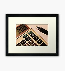 Photography - Calculator With Pen - Color Framed Print