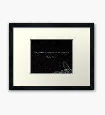 Photography/Digital Art - Bird With Bible Quote - Color Framed Print