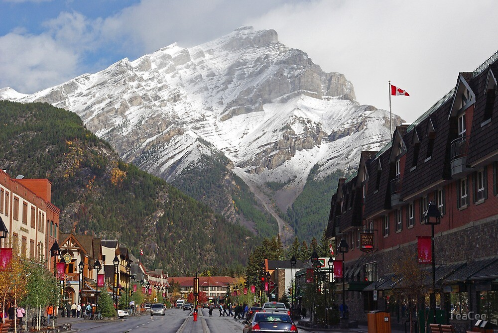 Main Street Banff by TeaCee