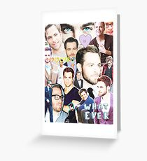 chris pine collage Greeting Card