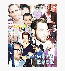 chris pine collage Photographic Print