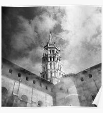 Les nuages et la basilique Poster