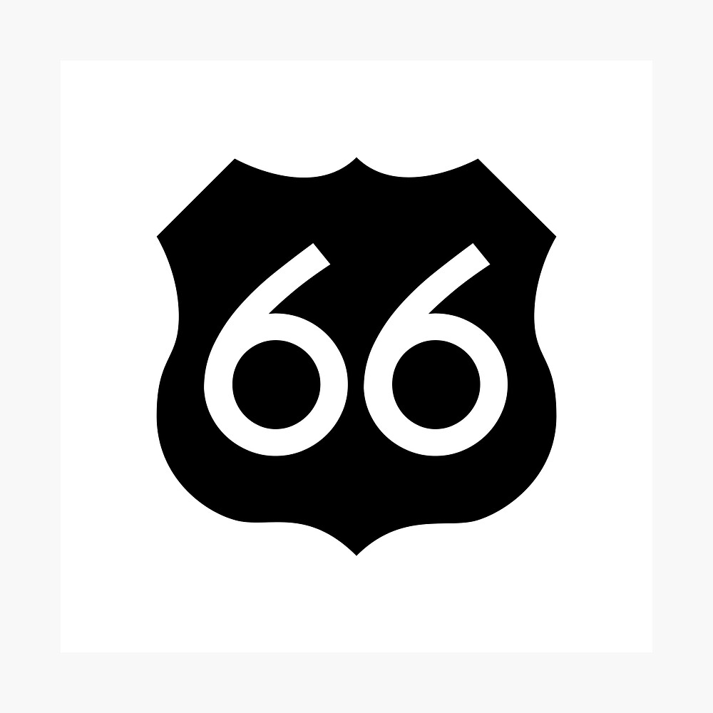 Route 66 Ideology Photographic Print