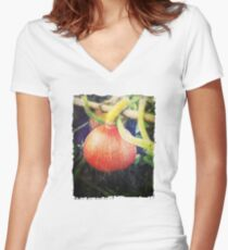 Vintage Look Winter Squash or Pumpkin Photo Women's Fitted V-Neck T-Shirt