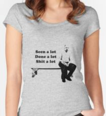 Karl Pilkington An idiot abroad Women's Fitted Scoop T-Shirt
