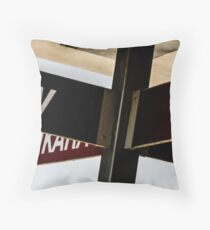 The Signpost Throw Pillow