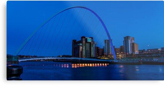 Gateshead Millennium Bridge Colours by Trevor Kersley