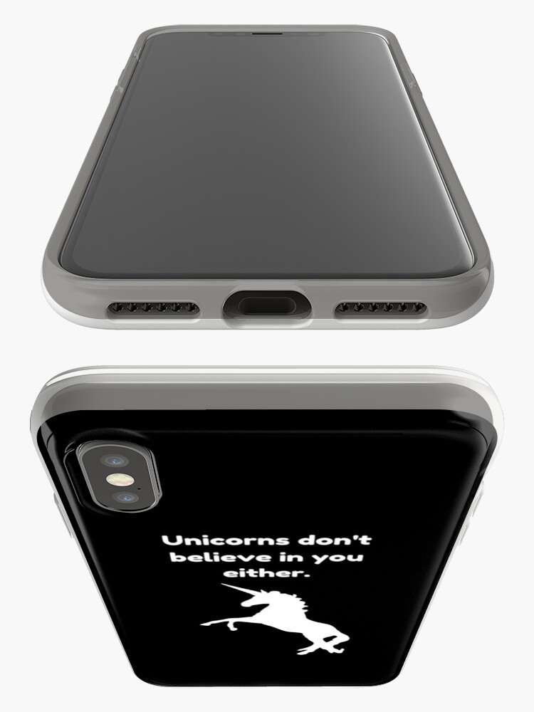 Vista alternativa de Vinilos y fundas para iPhone Cita divertida del unicornio