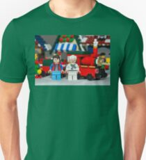 Doc and Marty and a Xmas Train T-Shirt