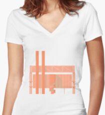 Cigarette Factory Women's Fitted V-Neck T-Shirt