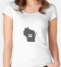 Wisconsin Equality Women's Fitted Scoop T-Shirt