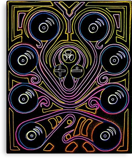 DJ Octopus neon v1 by sebmcnulty