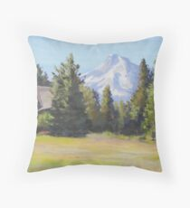 Field With a View Throw Pillow