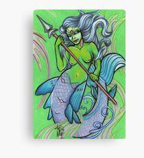 green mermaid Canvas Print